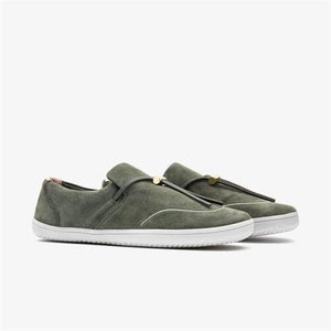 Vivobarefoot Ra Slip-on Ladies Leather Olive Green