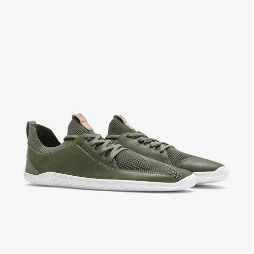 Vivobarefoot Primus Knit Ladies Leather Olive Green