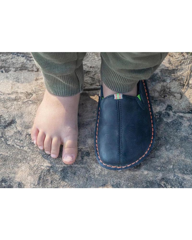 Vivobarefoot Ababa Kids Leather Navy