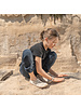 Vivobarefoot Ababa Kids Canvas Born Free Cement