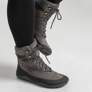 Vivobarefoot Tracker Hi FG Ladies Leather Dark Grey