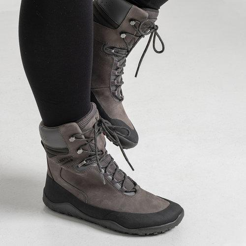 Vivobarefoot Tracker Hi FG Ladies Leather Dark Grey