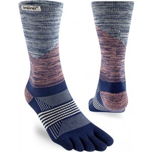 Injinji Spectrum Womens Trail Midweight Crew Coolmax Rose/River