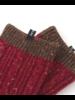 Knitido Sakura donkerrood/grijs, halfhoog met wol