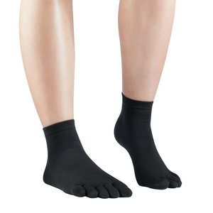 Knitido Silkroad Mid zijden sokkken Black