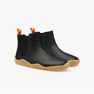 Vivobarefoot Fulham Kids Black Leather