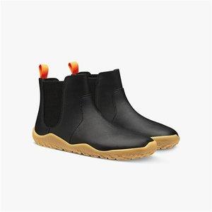 Vivobarefoot Fulham Kids Winter Black Leather