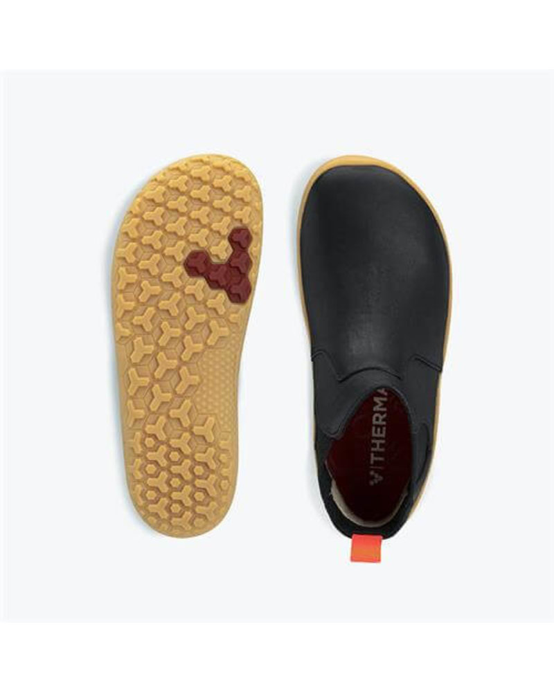 Vivobarefoot Fulham Kids Black Leather