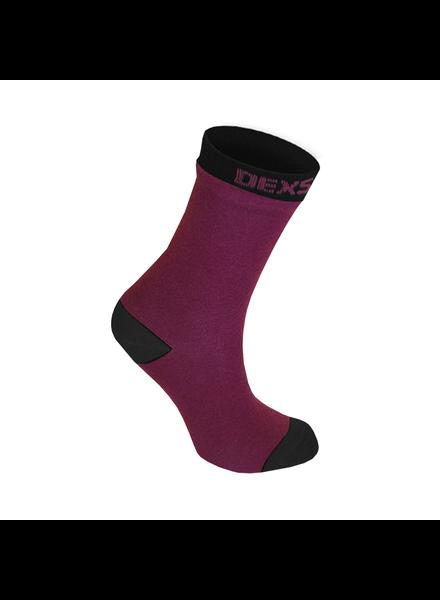 DexShell Waterproof Kids Socks Burgundy/Black