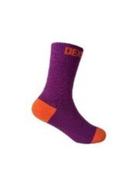 DexShell Waterproof Kids Socks Purple/Orange