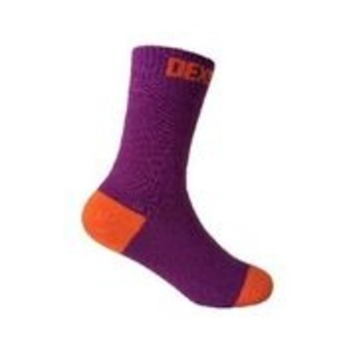 DexShell Waterproof Kids Socks Purple/Orange