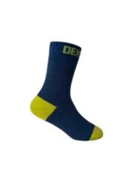 DexShell Waterproof Kids Socks Navy/Lime