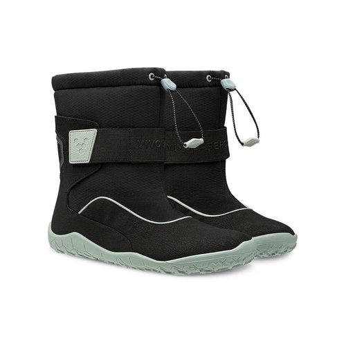 Vivobarefoot Yeti Junior Black Aqua Grey