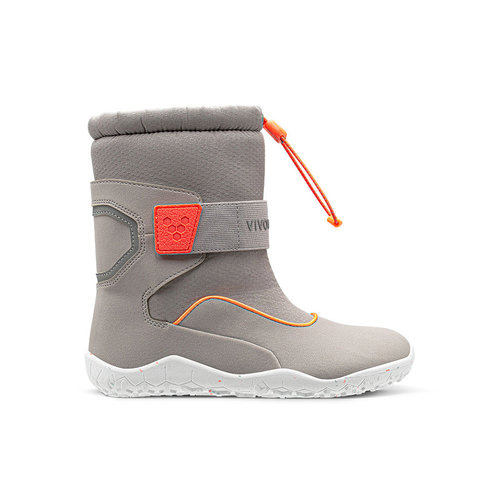 Vivobarefoot Yeti Toddler Ash Grey Neon Red