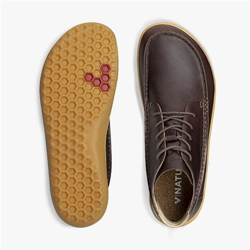 Vivobarefoot Gobi Mocc Men Leather Brown