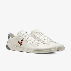 Vivobarefoot Geo Court Leather Men White/Navy/Red