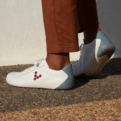 Vivobarefoot Geo Court Leather Men White/Blue/Red