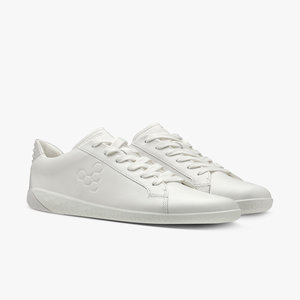Vivobarefoot Geo Court Ladies Leather Bright White