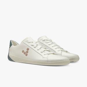 Vivobarefoot Geo Court Ladies Leather White/Navy/Pink