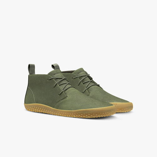 Vivobarefoot Gobi Kids Leather Botanical Green