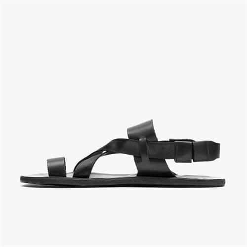 Vivobarefoot Kuru Sandal Ladies Leather Obsidian Black
