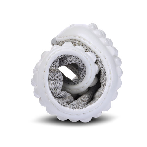 Leguano Beat silvergrijs met witte zool
