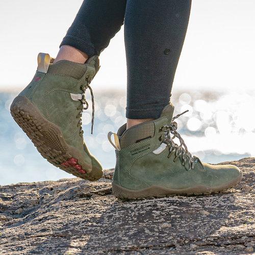 Vivobarefoot Tracker FG Ladies Leather Botanical Green