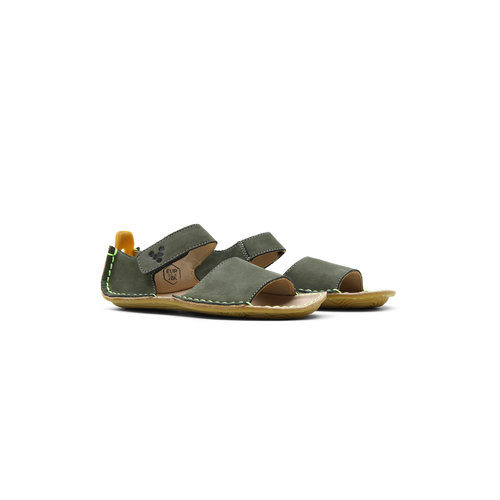Vivobarefoot Ababa Sandal Kids Leather Botanical Green
