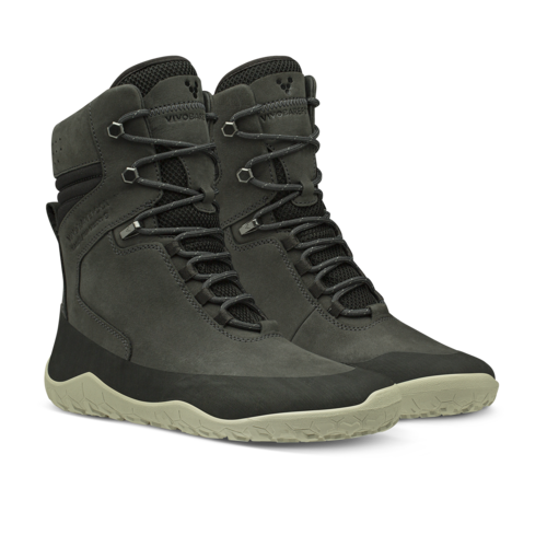 Vivobarefoot Tracker Hi FG Ladies Leather Obsidian