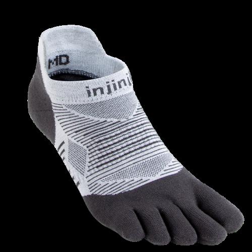 Injinji Run Lightweight No-Show Coolmax Gray