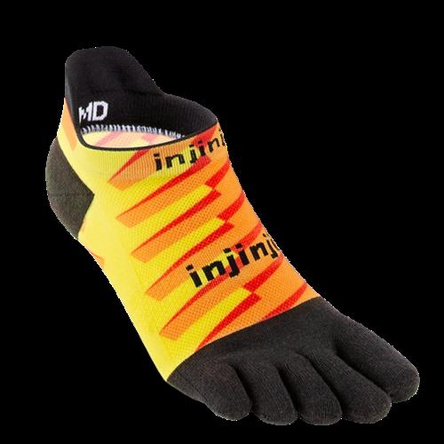 Injinji Spectrum Run Lightweight No-Show Coolmax Lightning
