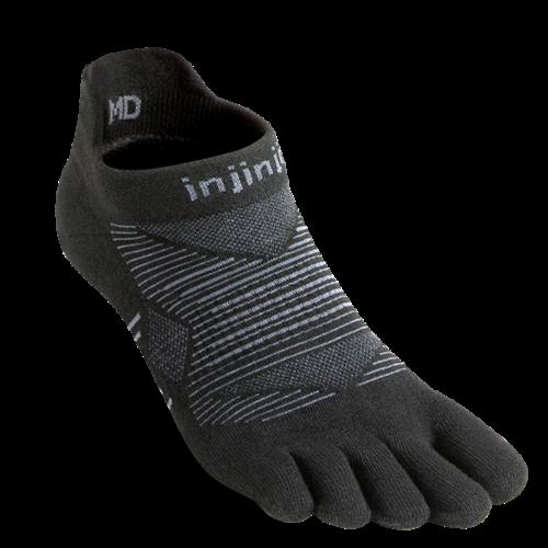 Injinji Run Lightweight No-Show Coolmax Noir