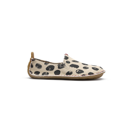 Vivobarefoot Ababa Kids Canvas Beige Dot