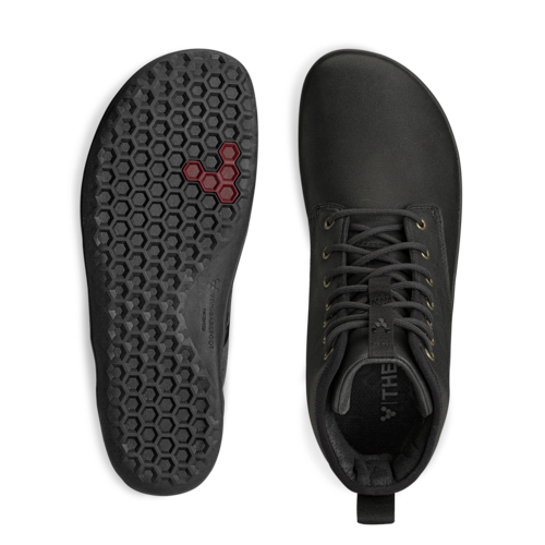 Vivobarefoot Scott II Men Leather Obsidian