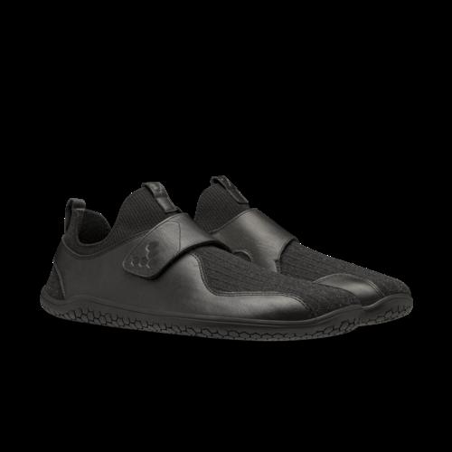 Vivobarefoot Primus Knit EZ Men Leather Obsidian S