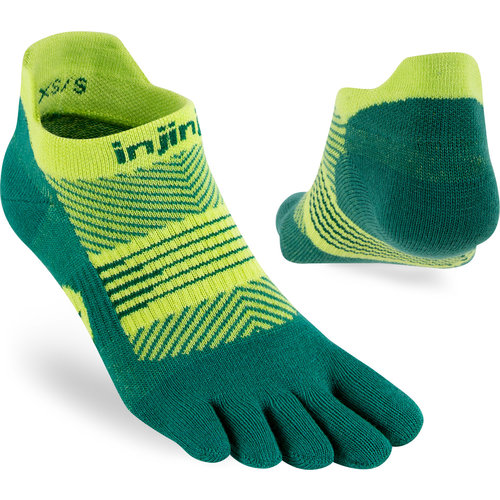 Injinji Womens Run Lightweight No-Show Coolmax Nessie