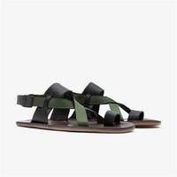Kuru Sandal Ladies Leather Black/Olive