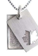 Rechthoekige hanger met esdoornblad