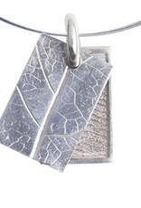 Rechthoekige hanger met bladnerf