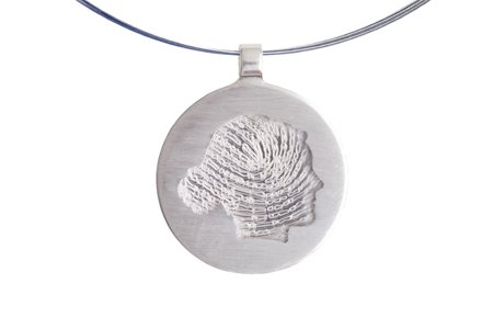 Round profile-pendant with fingerprint