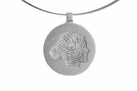Round profile-pendant with fingerprint