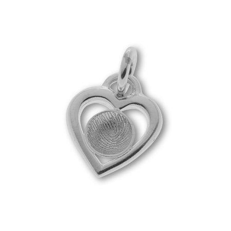 Herz mit Fingerabdruck Ø 10 mm. in Hölung