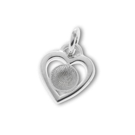 Heart with hollow Ø 10 mm. fingerprint
