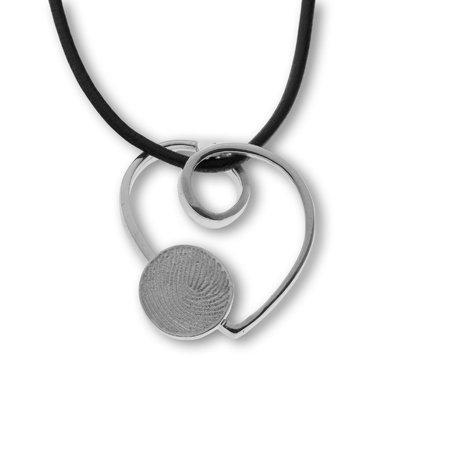 Herz mit Fingerabdruck Ø 10 mm. Creativ