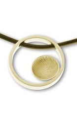 Anhänger Ring mit Fingerabdruck sphärisch mit runde Abdruck Ø 10 mm.
