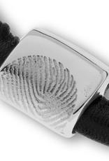 Armband leder/neopreen inkl. Aschebehälter, mit Fingerabdruck und Magnetschliesse