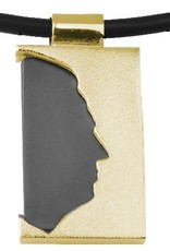 Rectangular open pendant with Ebony wood