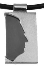 Rectangle silhouette ouvert, avec ébène