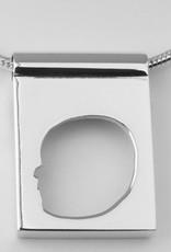 Rechteck, offenes Profil mit Rand und breite Öse