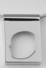 Rectangulaire silhouette ouvert, avec anneau large